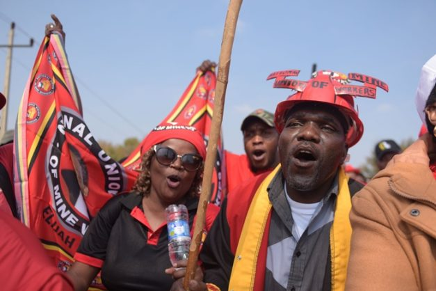 The Congress of South African Trade Unions members celebrate and commemorate this year's International Workers Day in the Vaal, 1 May 2018.  Marches were planned across country.  Picture: Tracy Lee Stark