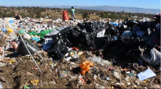 The Newcastle landfill site where the dead baby's body was discovered.