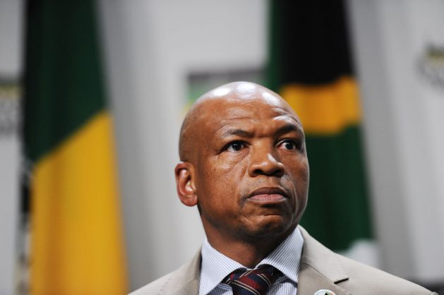 Former North West premier Supra Mahumapelo is seen at a press conference at Luthuli House, 23 May 2018, where he announced that he would be going on early retirement, thus leaving his post as premier of the North West Province. Picture: Michel Bega