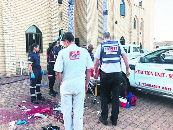The scene after an attack on a mosque in Verulam, KZN, 10 May 2018. Pictures - Reaction unit via Twitter