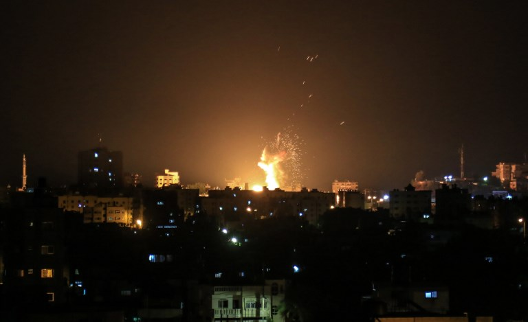 Israel hits 25 targets in Gaza in response to rocket fire