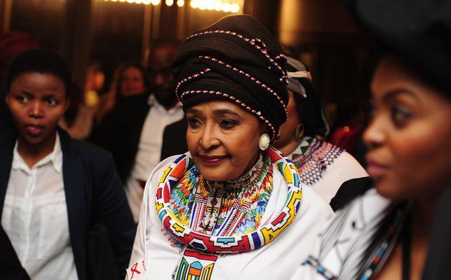 The late Winnie Madikizela-Mandela.