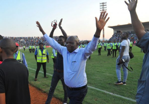 David Thidiela chairman  of Black Leopards celebrates during the National First Division Promotion Playoffs  at  Thohoyandou Stadium. (Pic Sydney Mahlangu/BackpagePix)