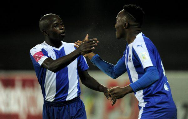 Siphesihle Ndlovu and Lebohang Maboe of Maritzburg United (Gerhard Duraan/BackpagePix)