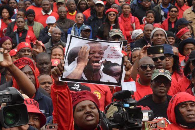NUM and NUMSA members. Picture: Nigel Sibanda