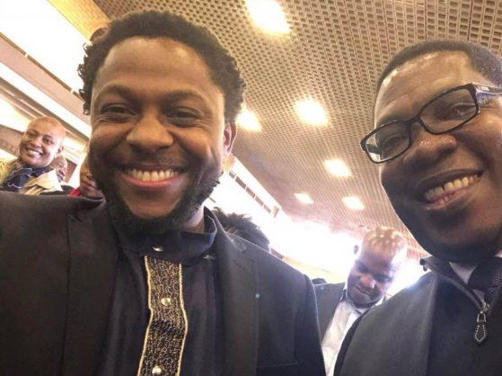 Mbuyiseni Ndlozi and Panyaza Lesufi. PHOTO:  Twitter.