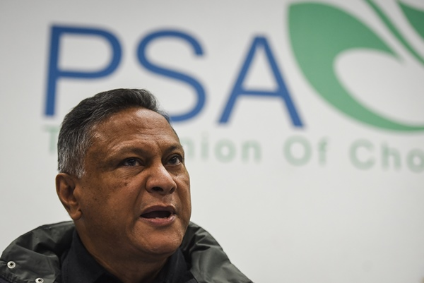 PSA (Public Servants Association of South Africa) general manager, Ivan Fredericks, is seen during a press briefing regarding an upcomming strike action, 6 June 2018, Pretoria. Picture: Jacques Nelles