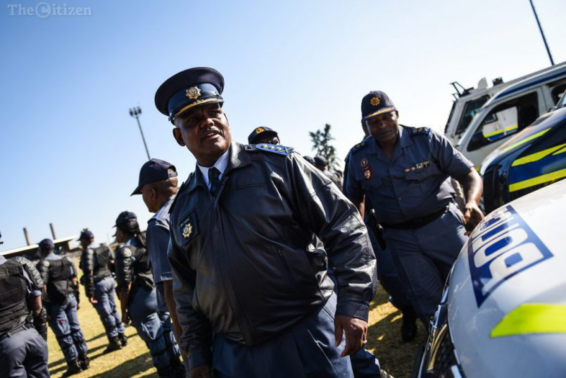 Then acting national police commissioner, Lieutenant-General Khomotso Phahlane looks at the new fleet of cars that were handed over to the Public Order Police at the SAPS training academy during a Public Order Police Unit showcase event, 31 May 2017, Pretoria. Picture: Jacques Nelles