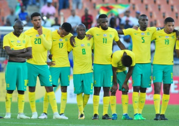Bafana bafana during the 2018 COSAFA Cup quarter final match between South Africa and Madagascar at New Peter Mokaba Stadium on June 03, 2018 in Polokwane, South Africa. (Photo by Philip Maeta/Gallo Images)