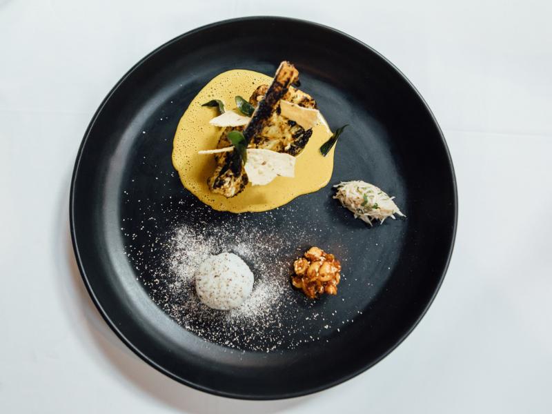 The Shortmarket Club - Tandoori Cauliflower, peanut and lemongrass sambal (LR) - photo Andy Lund (1)