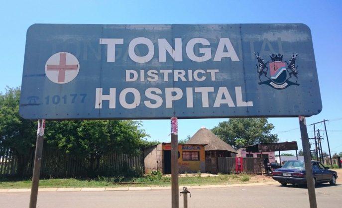 Tonga Hospital sign.