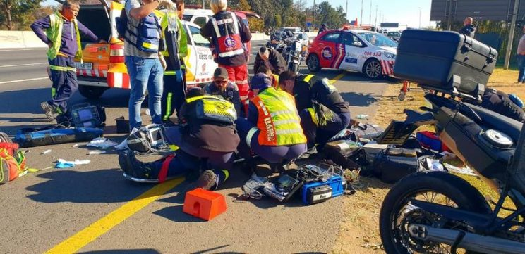 The 58-year-old was said to have lost control of his motorbike. Photo: ER24