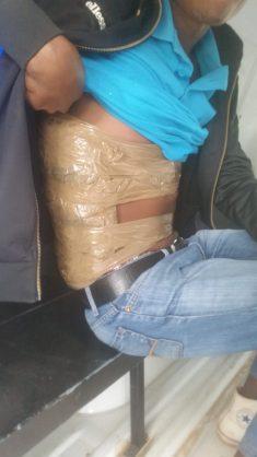 Creative commuter straps 5kg of dagga to body