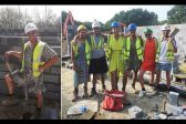 UK bricklayers wear dresses after ban on shorts