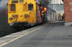 WATCH: R8m in damages after a train is gutted by fire