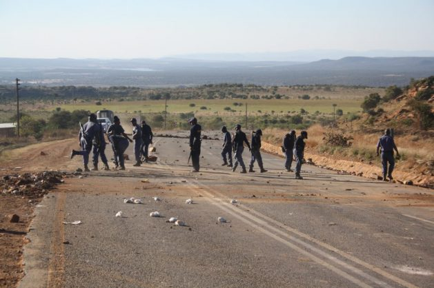 The R509 road between Koster and Swartruggens as well as the R52 road between Koster and Rustenburg were closed by protesting residents, 14 June 2018. Picture: ANA