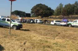 WATCH: Kempton Park road closed after gunfight between cops, robbers