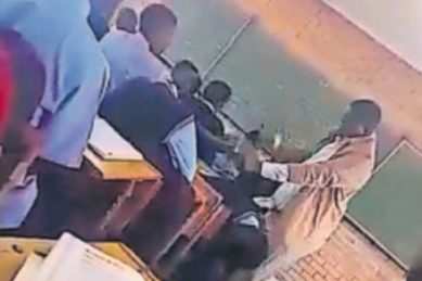 Learners punished with fan belt for making noise in class