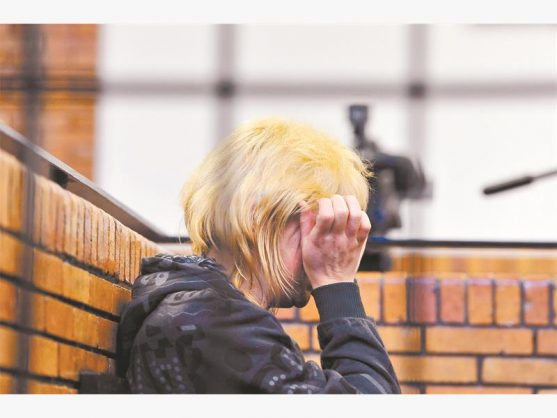 The wife and mom in the 'house of horrors' case appeared in the Springs Magistrate's Court in 2014. Picture: Neil McCartney