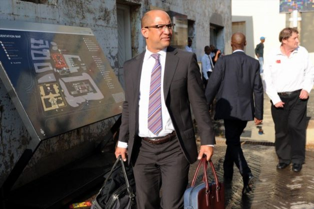 Michael Hulley leaves the Constitutional Court on February 9, 2016 in Johannesburg
