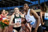 Caster Semenya subdued in her less favourite race
