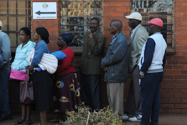 The community of Kuwadzana 2 primary in Harare stand in a queue to cast their votes in the Zimbabwe presidential election, 30 July 2018. Picture: Matthews Baloyi/AFrican News Agency (ANA)