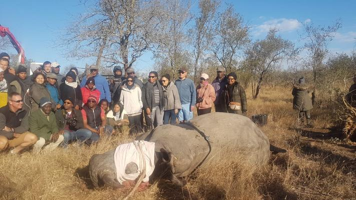 A group of business leaders in the Kruger Park. Picture: ANA