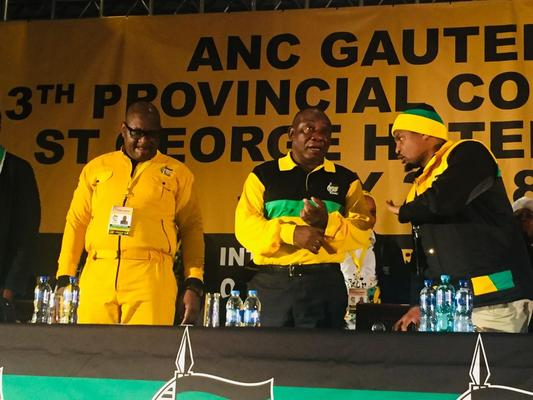 President Cyril Ramaphosa at the ANC's provincial conference in Gauteng. Picture: ANA