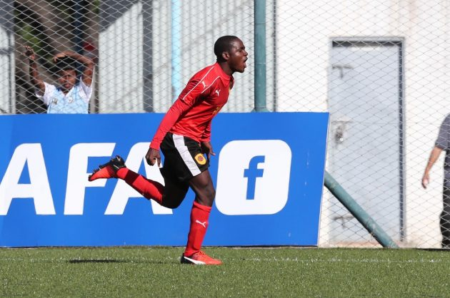 Zito Luvumbo of Angola celebrates goal during the 2018 Cosafa Under 17 Youth Championships football match between Angola and Swaziland at the Francois Xavier Stadium in Port Louis, Mauritius (Gavin Barker/BackpagePix)