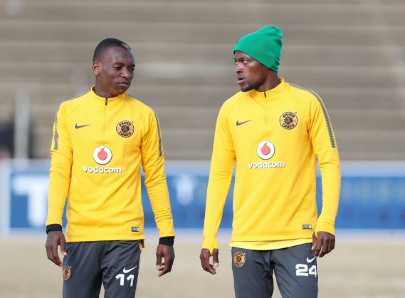 Khama Billiat with Lehlohonolo Mirwa of Kaizer Chiefs during the 2018 Maize Cup match between Free State Stars and Chippa United at the James Motlatsi Stadium, Orkney on 14 July 2018 ©Muzi Ntombela/BackpagePix