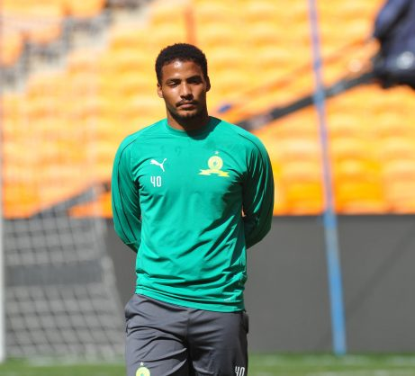 Rivaldo Coetzee during the Mamelodi Sundowns training  at FNB Stadium (Pic Sydney Mahlangu/BackpagePix)