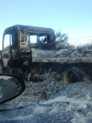The burnt truck. Image: Mpumalanga News