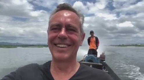 Pierre de Vos on a lake somewhere outside of South Africa.