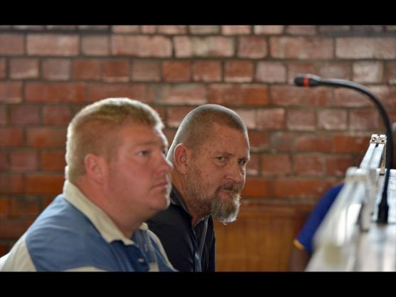Johannes Potgieter (left) and co-accused Hendrick Dumas (right). Image: Pretoria East Rekord