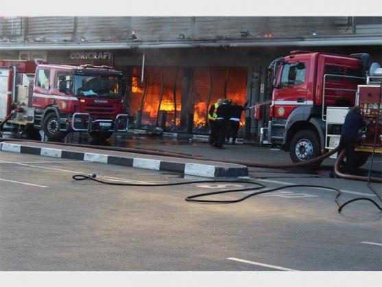 WATCH: Five Boksburg stores left gutted by runaway blaze