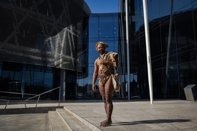 Cheif Khoisan SA at the Stats SA offices where he delivered a memorandum to have the Khoisan people recognized, 18 July 2018, Pretoria. Picture: Jacques Nelles