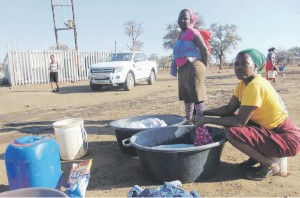 LONG WALK TO WATER. Some residents in Mopani still rely on communal taps for water. Pictures: Alex Matlala
