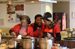 Showing some love with hot food on Mandela Day