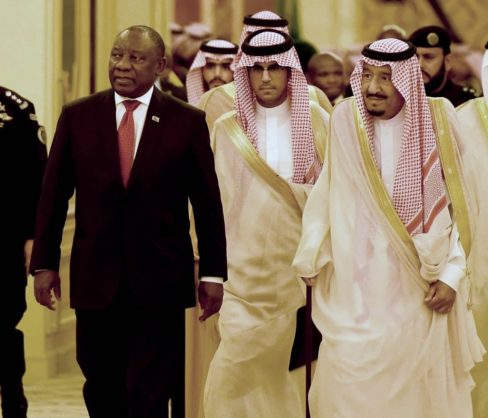 President Cyril Ramaphosa arriving at the Royal Court in Jeddah, for the Welcome Ceremony during his State Visit to the Kingdom of Saudi Arabia, 12 July 2018. Picture: GCIS