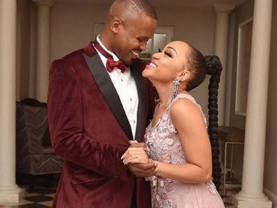 Thando Thabethe and Frans Mashao. Picture: Instagram