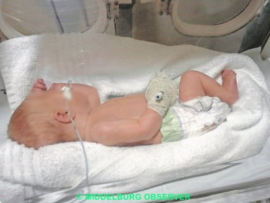 The six-day-old baby that was saved. Picture: Middelburg Observer