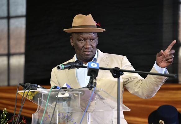 Police minister Bheki Cele says Operation Thunder has been a success in the Western Cape. Picture: Bongani Shilulbane/ANA