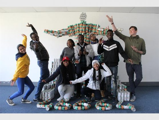 These are the St Augustine College of South Africa students that contributed to the recreation of the famous Nelson Mandela statue that can be found at the Union Buildings in Pretoria.