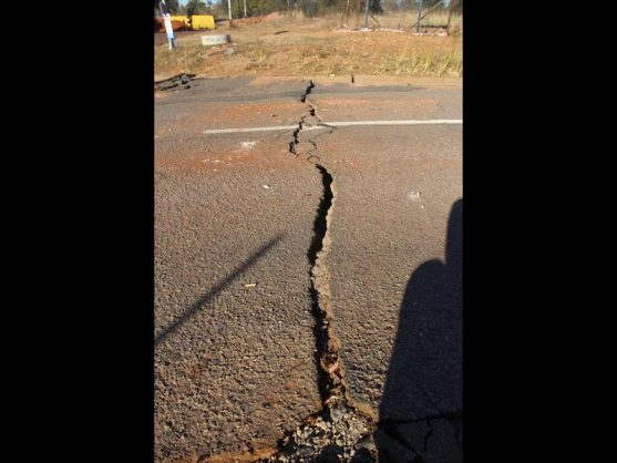 While the sinkhole itself is 6 metres in diameter cracks around it show that the affected area could be much larger - approximately 50 metres.