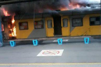 Sanco slams 'deliberate' arson attacks on metro train services