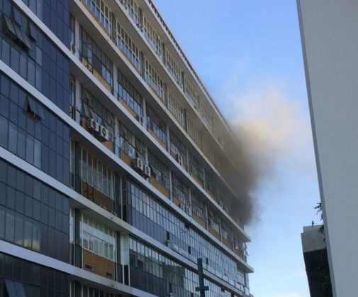 Part of University of Pretoria building on fire