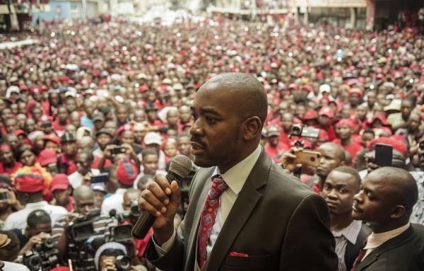 MDC Alliance leader Nelson Chamisa. Picture: ZINYANGE AUNTONY/AFP