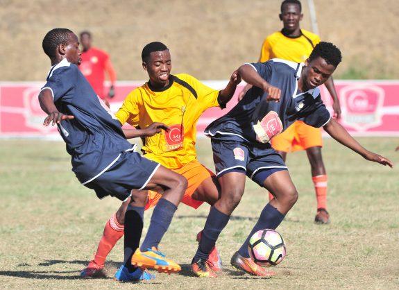 Gv general view of the Action during the 2018 SAB League National U21 Championships match between Mpumalanga and Gauteng at King Zwelithini Stadium. (©Samuel Shivambu/BackpagePix)