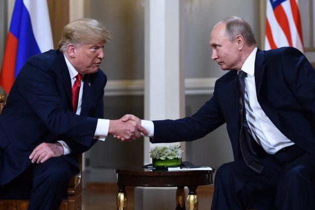 Donald Trump and Vladimir Putin. Picture: Reuters.