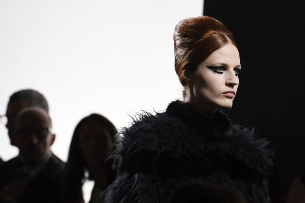 Angular eyeliner at the Fendi 2018-2019 Fall/Winter Haute Couture show. Picture: Alain Jocard/AFP